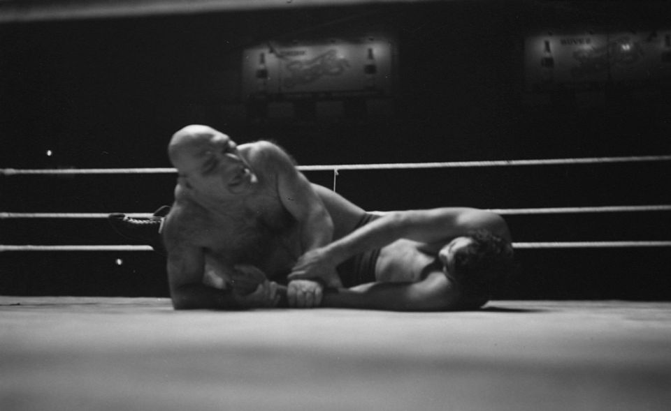 Maurice Tillet vs Lou Thesz in 1940.
